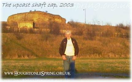 Former miner George Davison on the upcast shaft cap, 2003