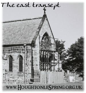 The east transept of St Michael's Church, Houghton, 1973