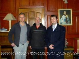 Paul Lanagan inside Houghton Hall with the Shipman family