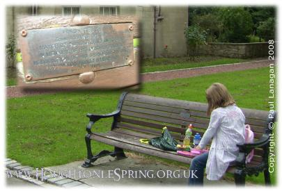 The John Mawston bench in Houghton Rectory Park, 2008
