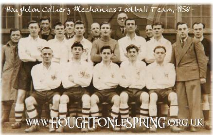 Houghton Colliery Mechanics Football Team, 1953