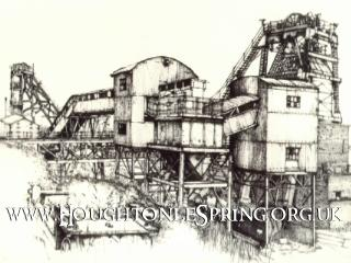 A drawing of Houghton Pit at bank