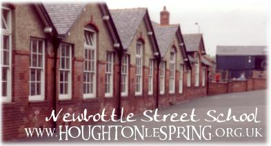 Newbottle Street Primary School with Station Road in the background - Newbottle St is to the right of the photo