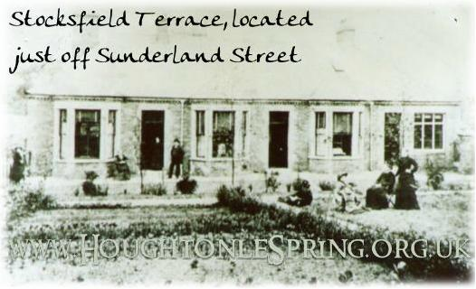 Stocksfield Terrace was just off Sunderland Street, Houghton-le-Spring