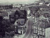 Looking north from the Church tower, 1950s - Click to Enlarge