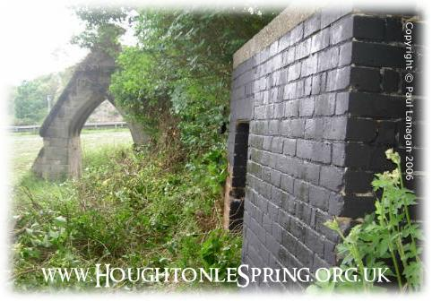 Brick built WWII air raid shelter at Houghton-le-Spring