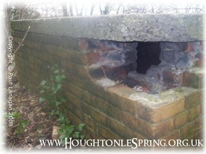 3 layers of brick: WWII air raid shelter at Houghton-le-Spring