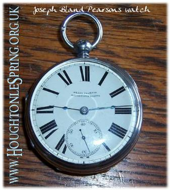 Joseph Bland Pearson's silver pocket watch, 2009
