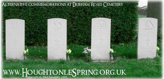 Alternative commemorations for the four lads who are buried in the dilapidated Hillside Cemetery