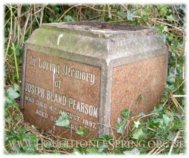 Memorial for Joseph Bland Pearson, in 2003
