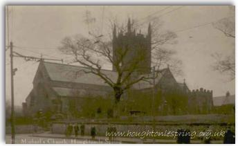 The historic church of St Michael & All Angels, 1900