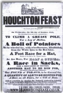 A Houghton Feast poster showing Feast events in 1845