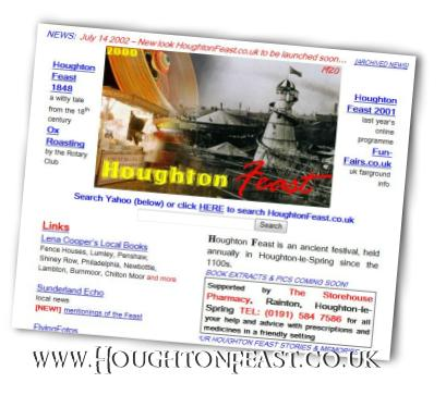 The Houghton Feast website as seen in 2002