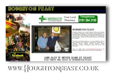 The Houghton Feast website as seen in 2010