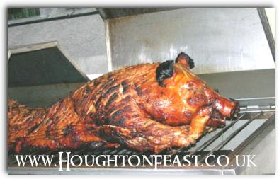 The hog roast in St Michael's Church at Houghton Feast 2009