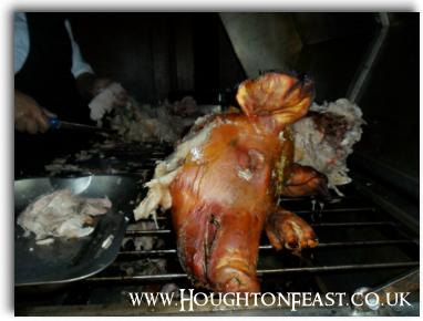 The hog roast in St Michael's Church at Houghton Feast 2010