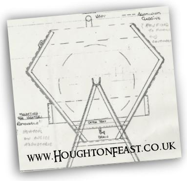Plans for the Houghton Feast ox spit