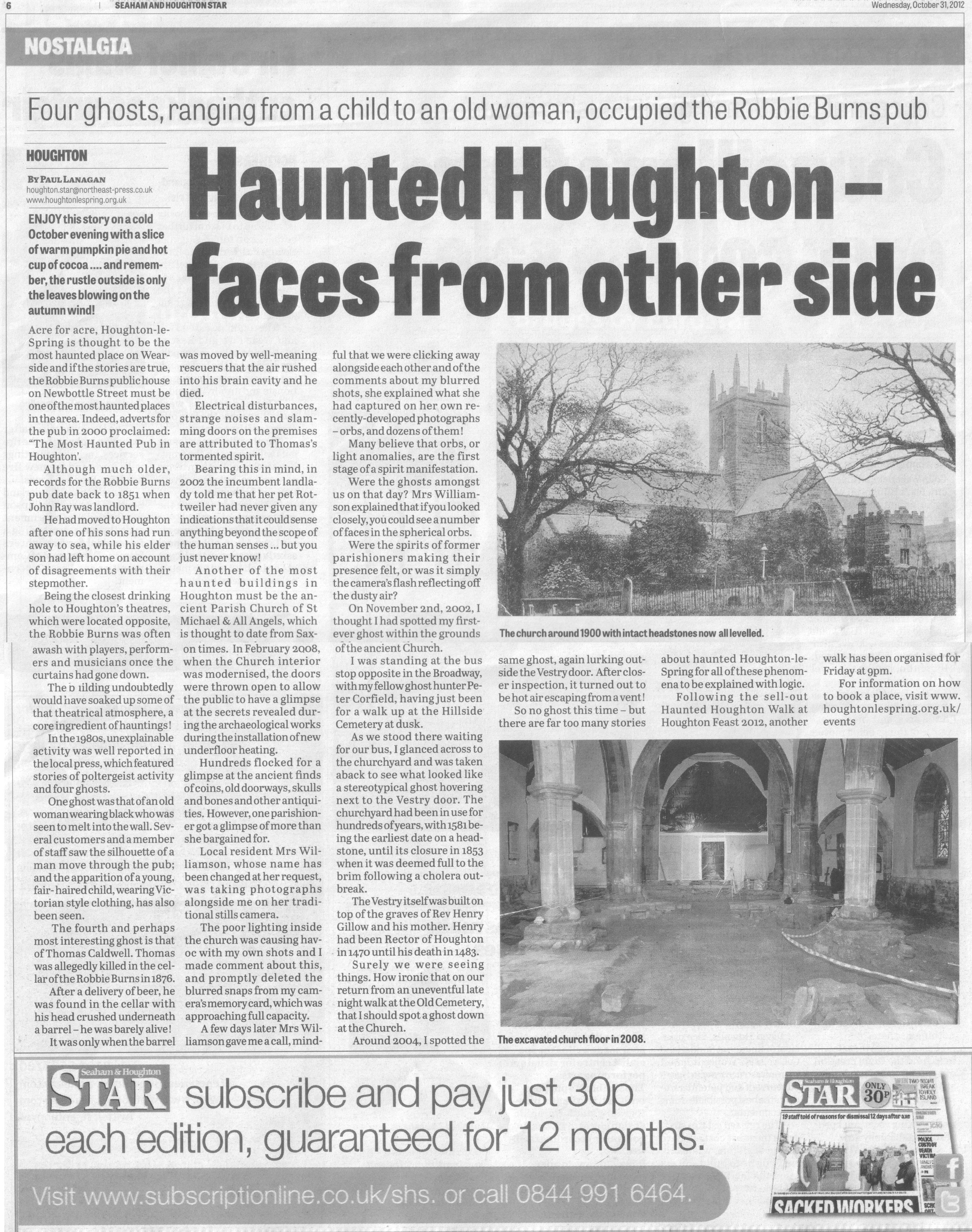 ghosts content newspaper
