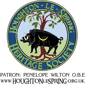 The crest of the Gilpins, as adopted by Houghton-le-Spring