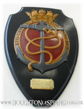 This plaque from HMS Wellard used to be housed in the Council Offices, before its demolition