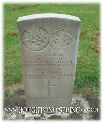 War grave for Lance CPL W.T SMITH & Private J.B SMITH, Houghton-le-Spring